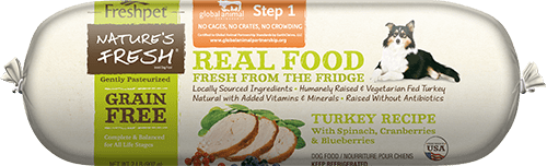 Freshpet Nature's Fresh Turkey Recipe with Spinach, Cranberries & Blueberries Grain-Free Frozen Dog Food
