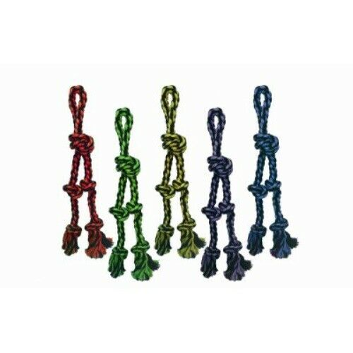 Multipet Nuts For Knots Rope Tug & Danglers Dog Toy, Color Varies, 15-in