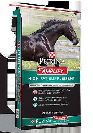 PurinaAmplify High-Fat Horse Supplement, 50-lb