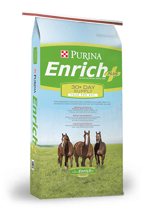 PurinaEnrich Plus Ration Balancing Horse Feed, 50-lb