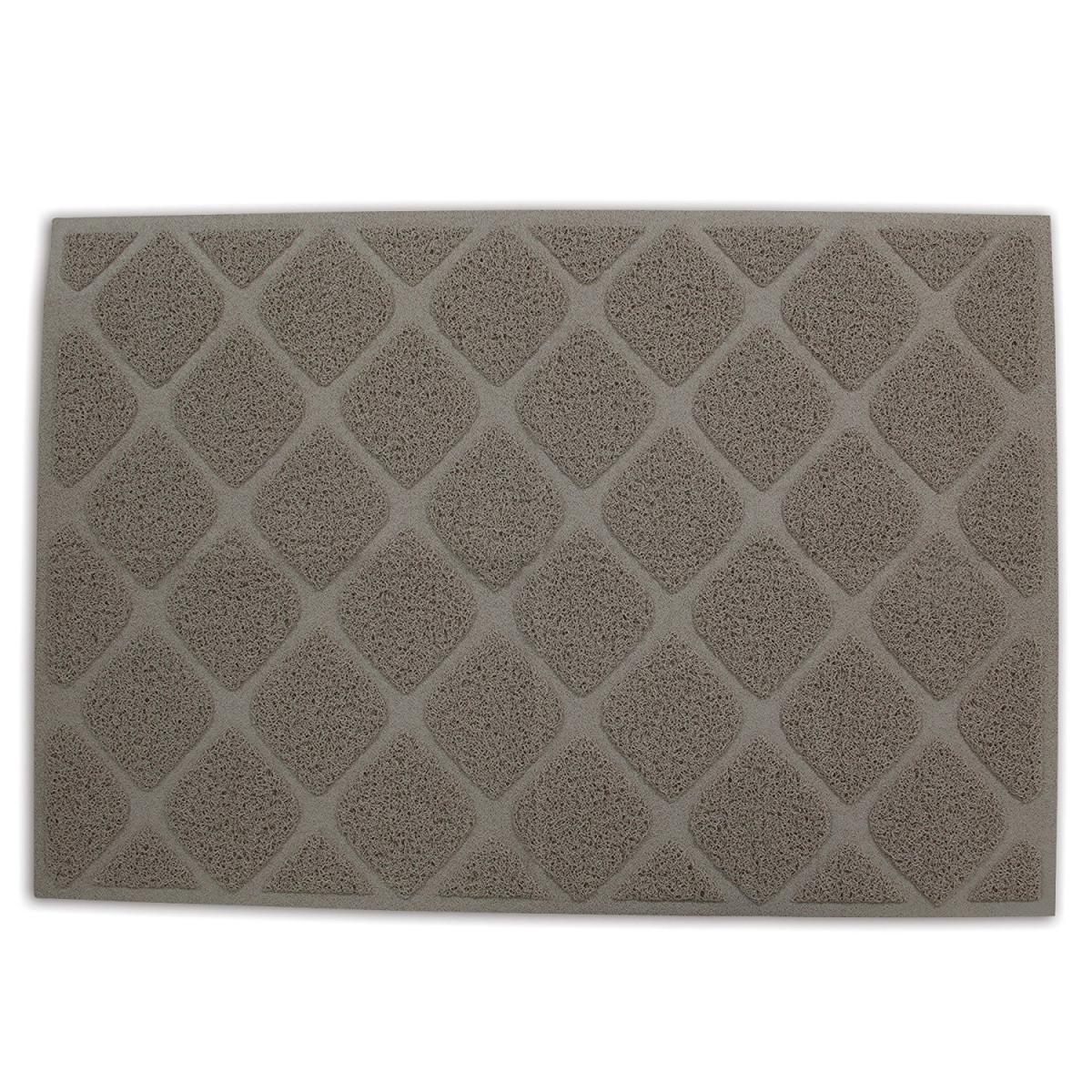 Petmate Litter Mat, Grid Design, Stone, 47 x 32 x 0.2 inches