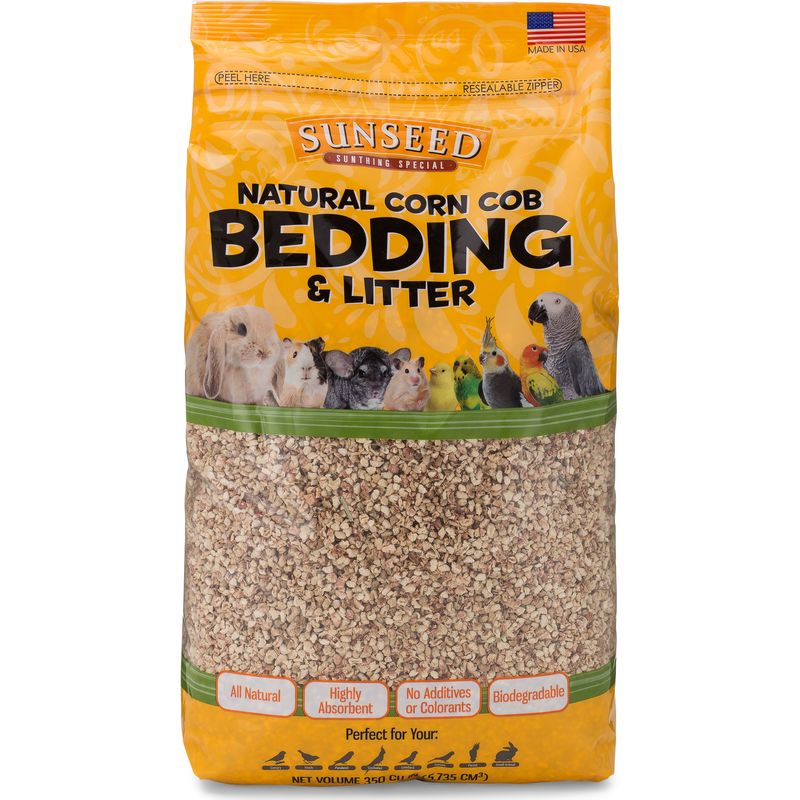 Sunseed Natural Corn Cob Bedding, 350 cu in