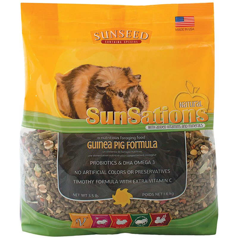 Sunseed SunSations Natural Guinea Pig Formula, 3.5-lb bag
