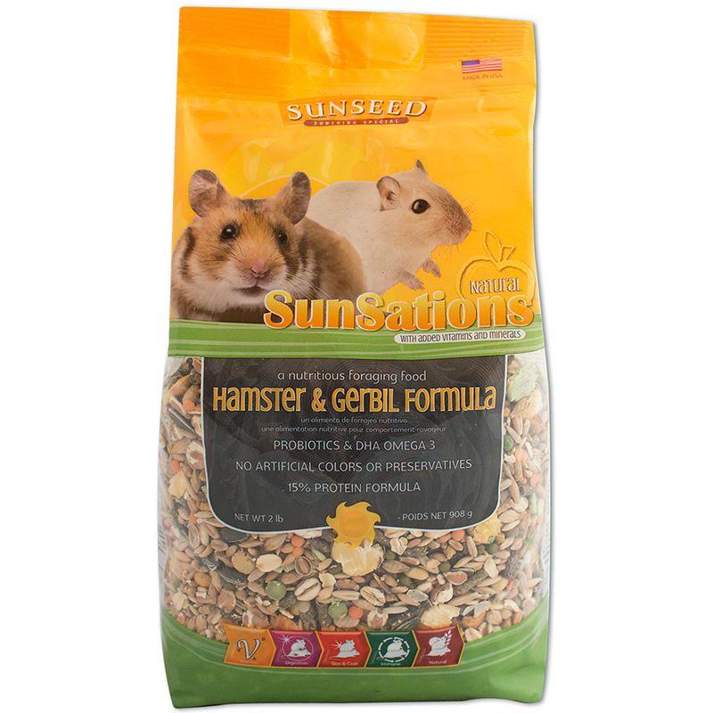 Sunseed SunSations Natural Hamster & Gerbil Formula, 2-lb bag