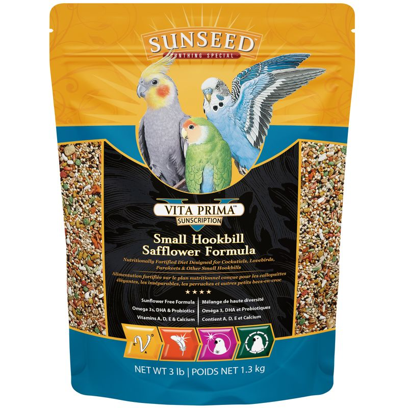 Sunseed Vita Prima Small Hookbill Safflower Formula, 3-lb bag