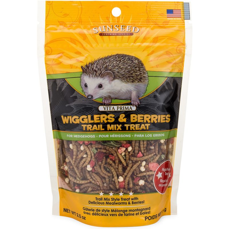 Sunseed Vita Prima Wigglers & Berries Trail Mix Treat for Hedgehogs, 2.5-oz bag