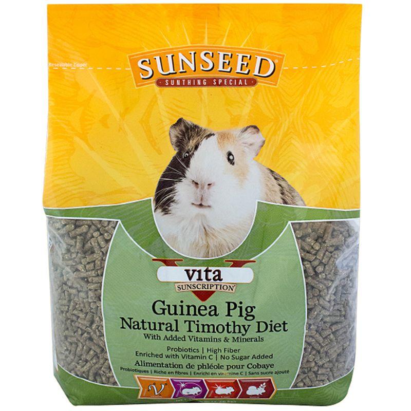 Sunseed Vita Natural Timothy Guinea Pig Diet, 5-lb bag