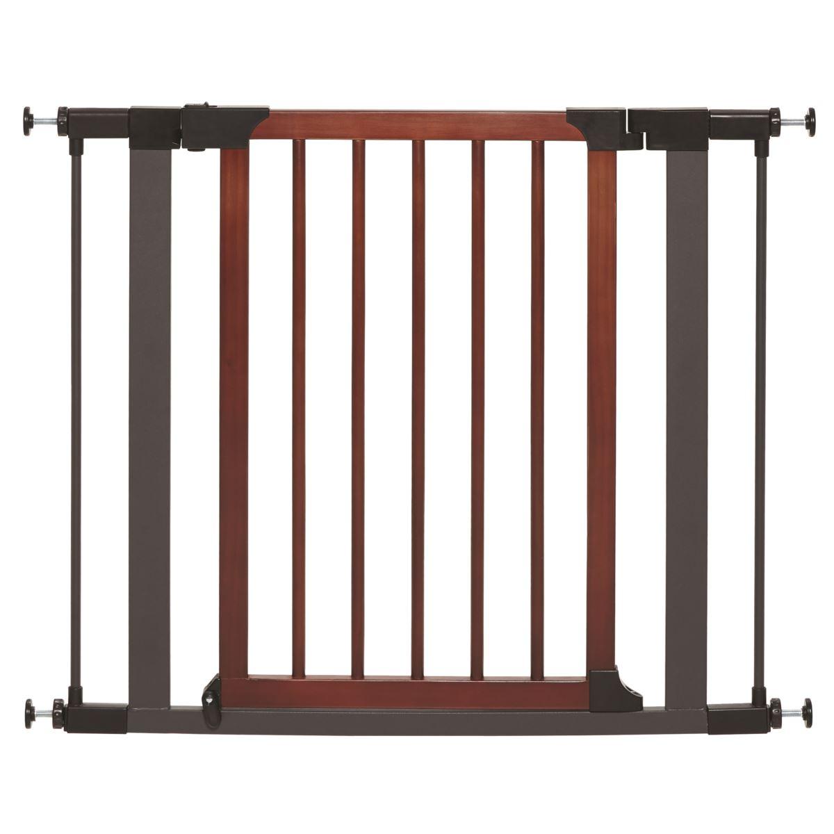 Midwest Steel Pet Gate with Decorative Wood Door, 29-in