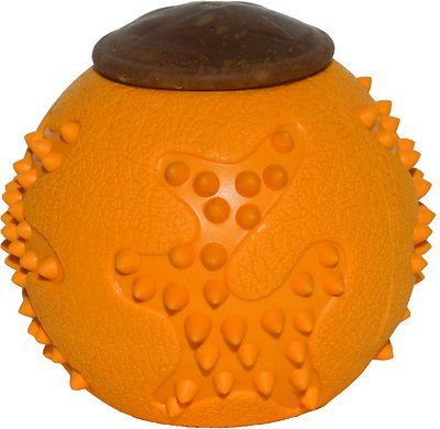 Starmark RubberTuff Treat Ball Dog Toy, Medium