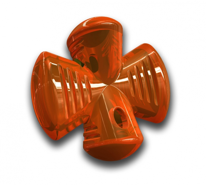 Bionic Stuffer Dog Chew Toy, Orange