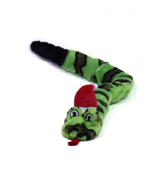 Outward Hound Holiday Invincibles Dog Chew Toy, Snake, Large