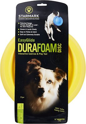 Starmark Easy Glide DuraFoam Disc Dog Toy, Color Varies, 11-in