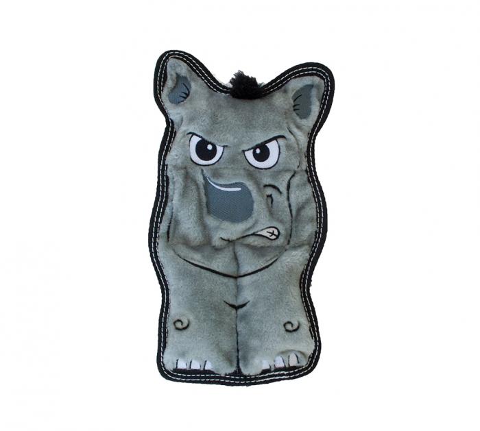 Outward Hound Tough Seamz Dog Chew Toy, Rhino