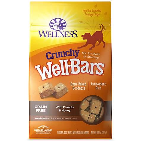 Wellness WellBars Crunchy Peanuts & Honey Baked Dog Treats