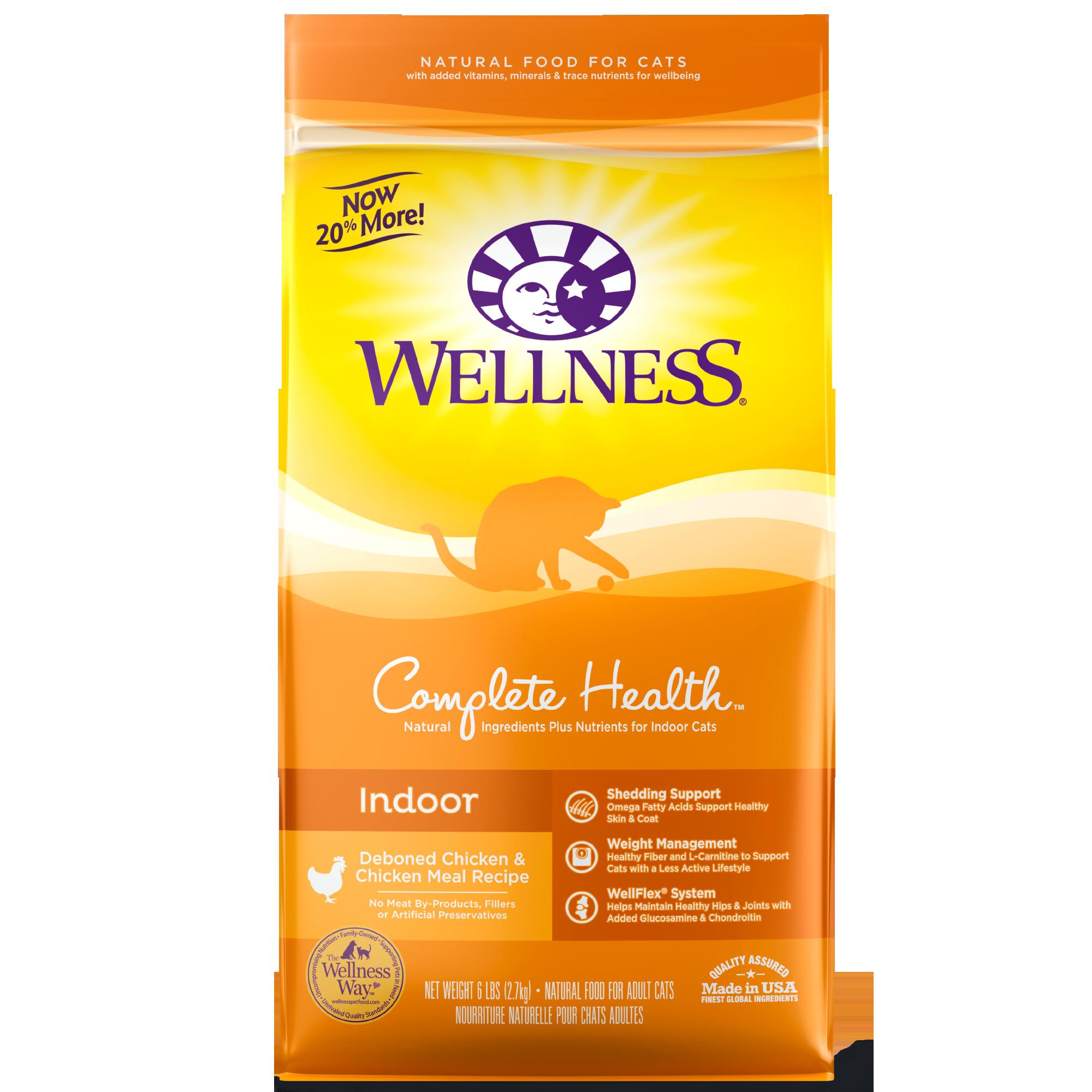 Wellness Complete Health Indoor, Deboned Chicken & Chicken Meal Recipe Dry Cat Food, 2.5-lb bag