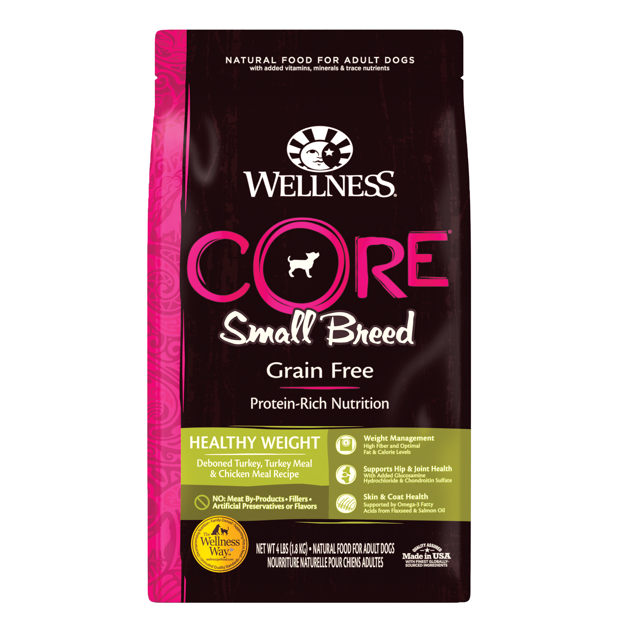 Wellness Core Small Breed, Grain-Free Healthy Weight, 12-lb bag