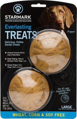 Starmark Everlasting Treats Wheat, Corn & Soy Free Flavor Dog Dental Chews, Large