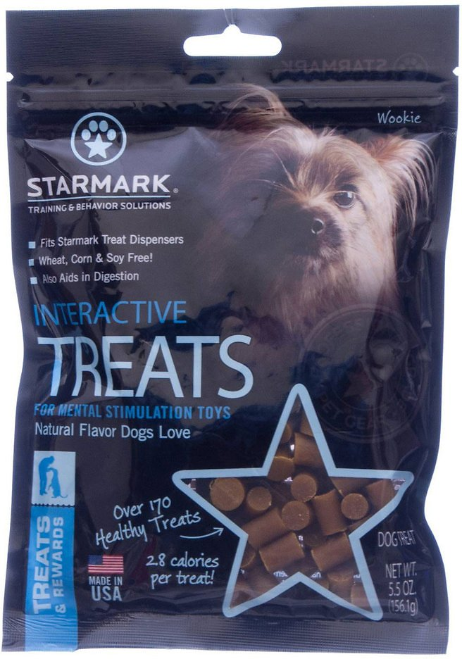 Starmark Interactive Dog Treats, 5.5-oz bag