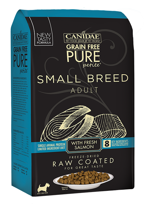 Canidae Grain-Free Pure Petite Small Breed Adult Fresh Salmon Dry Dog Food, 4-lb bag