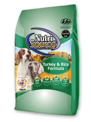 NutriSource Turkey & Rice Dry Dog Food, 5-lb bag