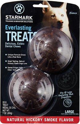 Starmark Everlasting Treats Natural Hickory Smoke Flavor Dog Dental Chews, Large