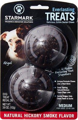 Starmark Everlasting Treats Natural Hickory Smoke Flavor Dog Dental Chews, Medium