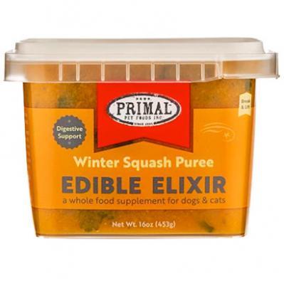 Primal Edible Elixir Winter Squash Puree Dog & Cat Food Topper, 16-oz