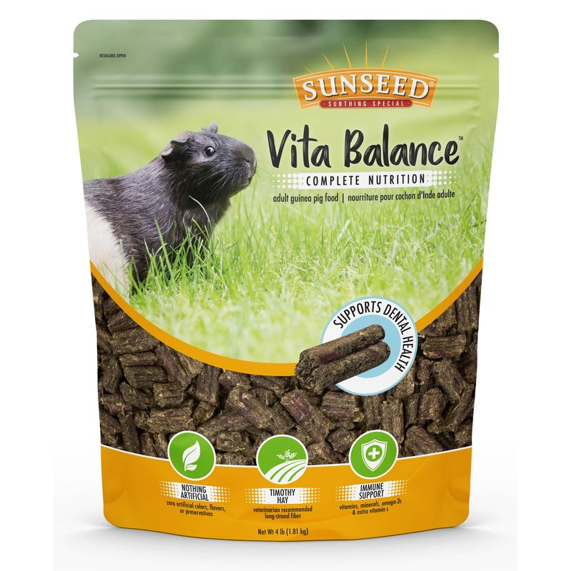 Sunseed Vita Balance Adult Guinea Pig Food, 4-lb bag