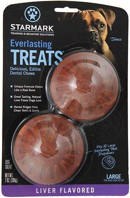 Starmark Everlasting Treats Liver Flavor Dog Dental Chews, Large