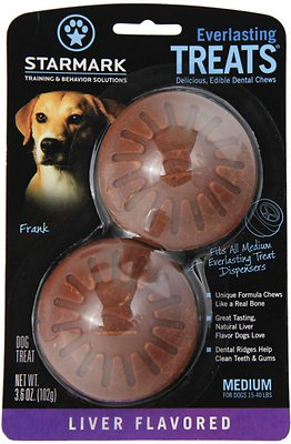 Starmark Everlasting Treats Liver Flavor Dog Dental Chews, Medium