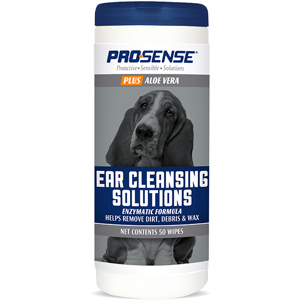 Pro-Sense Plus Ear Cleansing Solutions for Dogs, 50 count