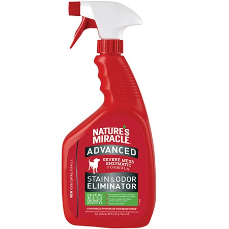 Nature's Miracle Dog Advanced Stain & Odor Remover, 64-oz pour bottle