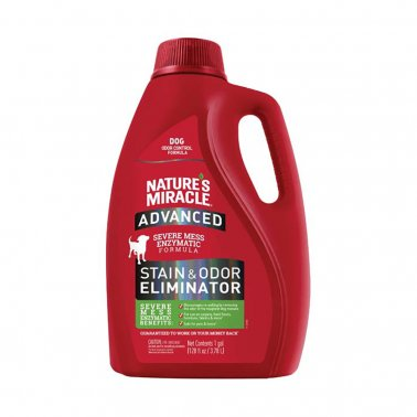 Nature's Miracle Dog Advanced Stain & Odor Remover, 128-oz pour bottle