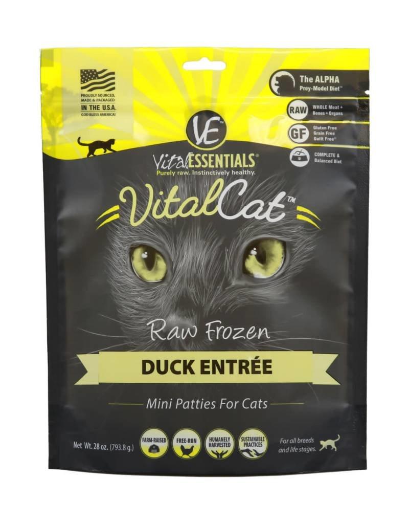 Vital Essentials Vital Cat Duck Mini Patties Raw Frozen Cat Food, 28-oz