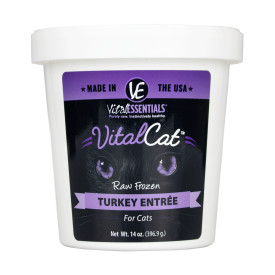 Vital Essentials Vital Cat Turkey Entrée Raw Frozen Cat Food, 14-oz tub