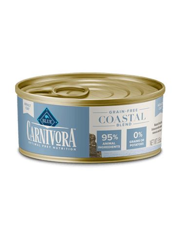Blue Buffalo Carnivora Grain-Free Coastal Blend Adult Canned Cat Food, 5.5-oz can, case of 24
