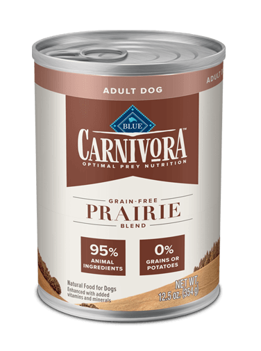 Blue Buffalo Carnivora Grain-Free Prairie Blend Adult Canned Dog Food, 12.5-oz can, case of 12