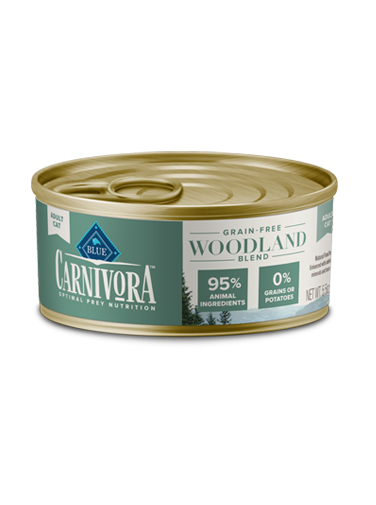 Blue Buffalo Carnivora Grain-Free Woodland Blend Adult Canned Cat Food, 5.5-oz can, case of 24