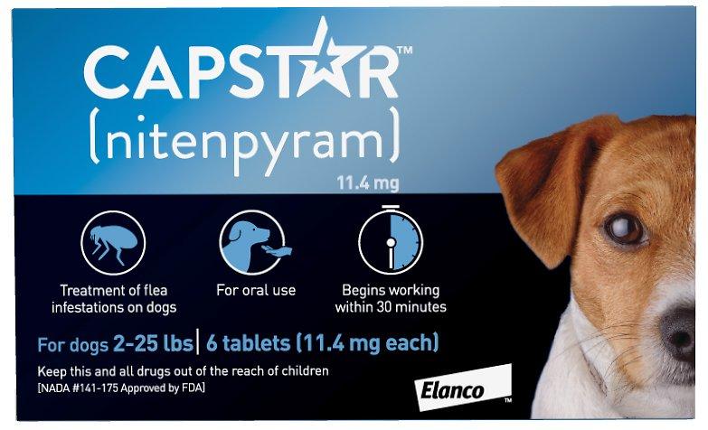 Capstar Flea Tablets for Dogs, 2-25 lbs