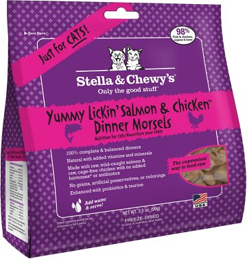 Stella Chewys Yummy Lickin Salmon Chicken Dinner Morsels Grain