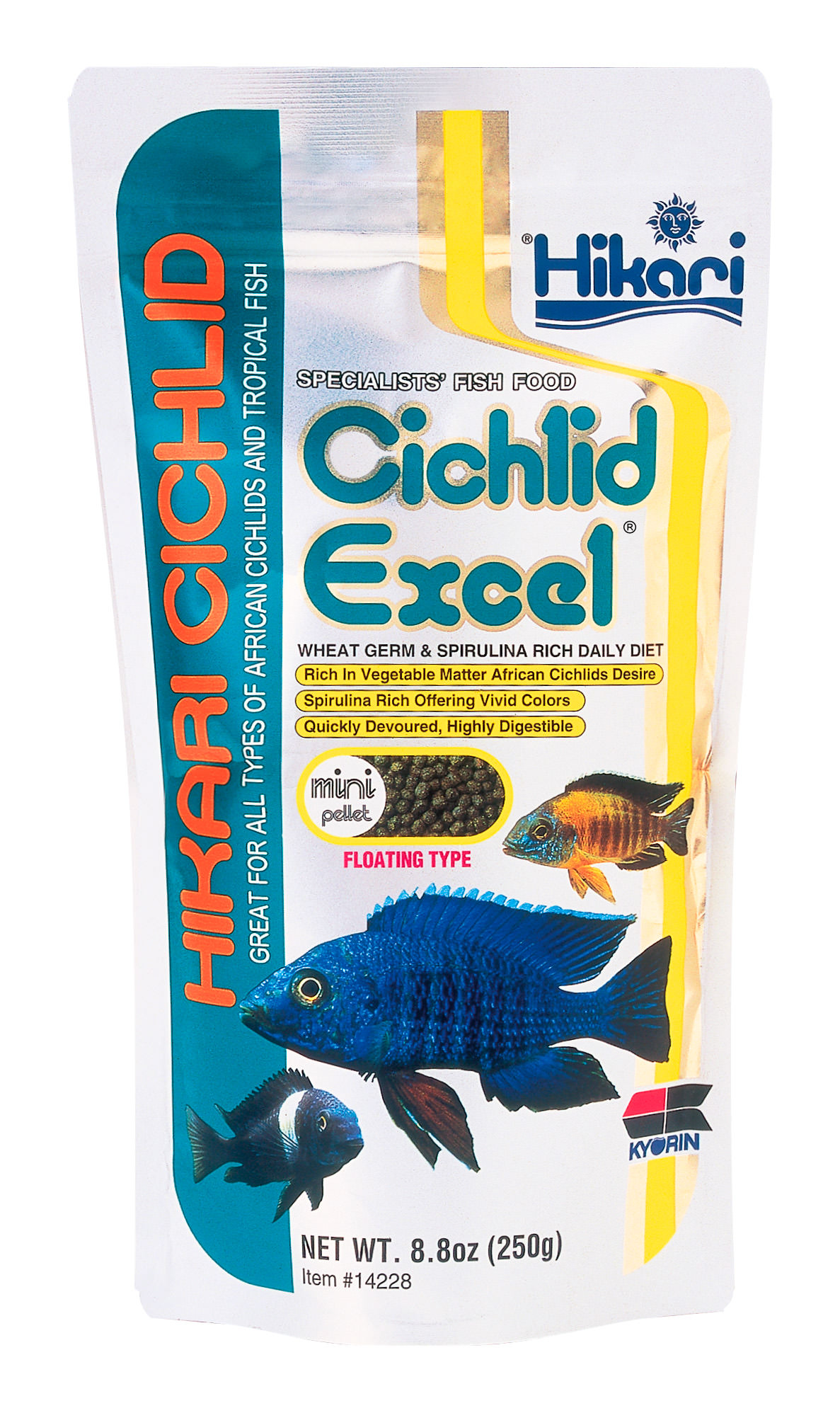 Hikari Cichlid Excel Herbivorous Fish Food, 2-oz