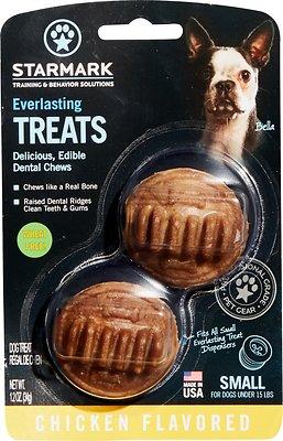 Starmark Everlasting Dental Chicken Dog Treats, Small