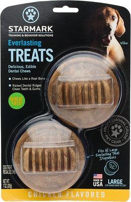 Starmark Everlasting Dental Chicken Dog Treats, Large