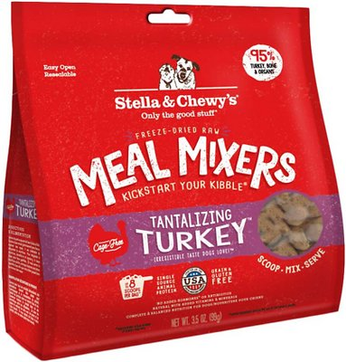 Stella & Chewy's Tantalizing Turkey Meal Mixers Grain-Free Freeze-Dried Dog Food, 3.5-oz bag