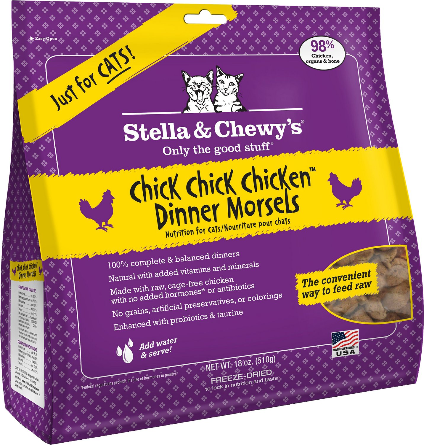 Stella & Chewy's Chick Chick Chicken Dinner Grain-Free Freeze-Dried Cat Food Image