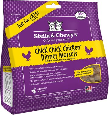 Stella & Chewy's Chick Chick Chicken Dinner Grain-Free Freeze-Dried Cat Food, 3.5-oz bag