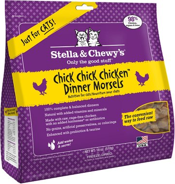 Stella & Chewy's Chick Chick Chicken Dinner Grain-Free Freeze-Dried Cat Food, 18-oz bag Size: 18-oz bag