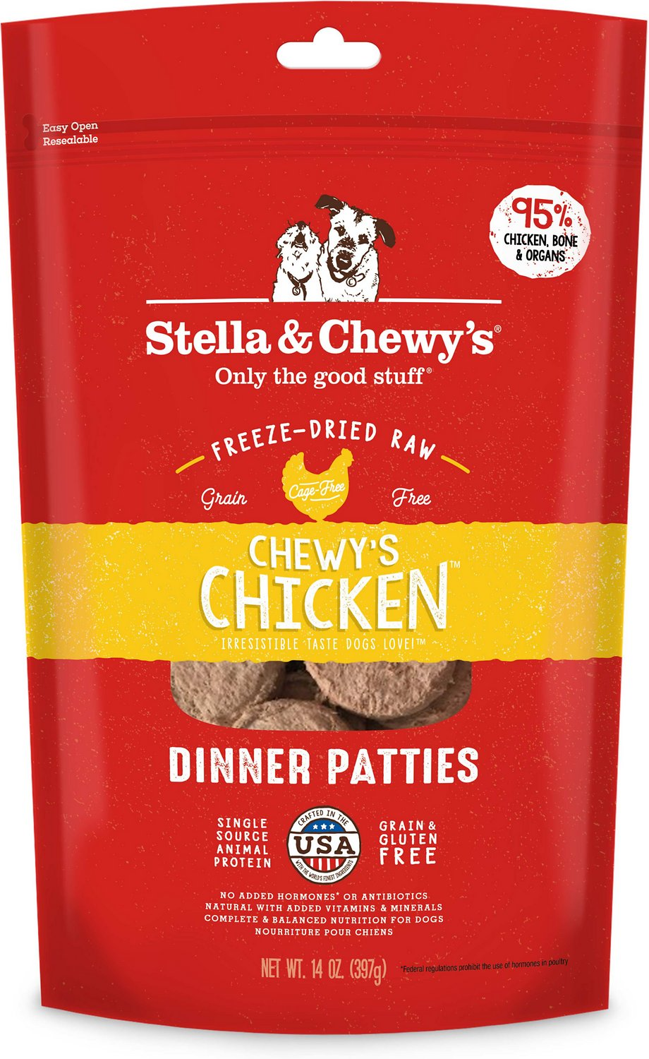 Stella & Chewy's Chewy's Chicken Dinner Patties Grain-Free Freeze-Dried Dog Food Image
