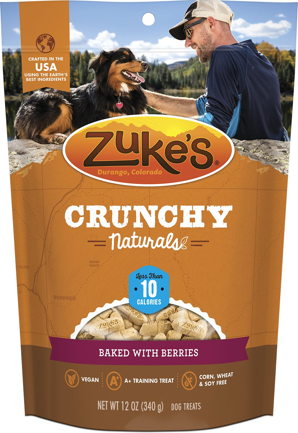 Zuke's Crunchy Naturals 10s Baked With Berries Dog Treats, 12-oz bag