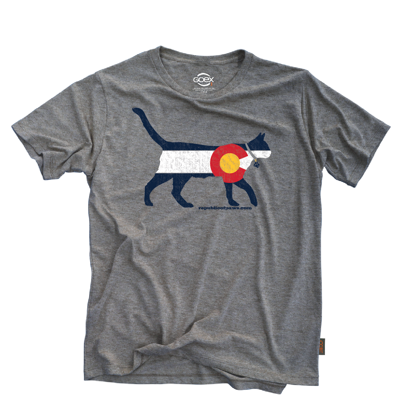 Republic of Paws Colorado Cat T-Shirt, X-Small